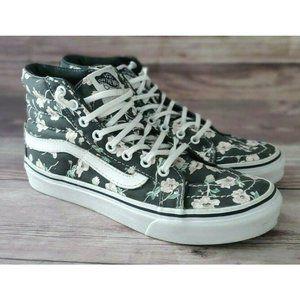 Vans Womens Sk8-Hi Floral Gray Sneakers 5.5